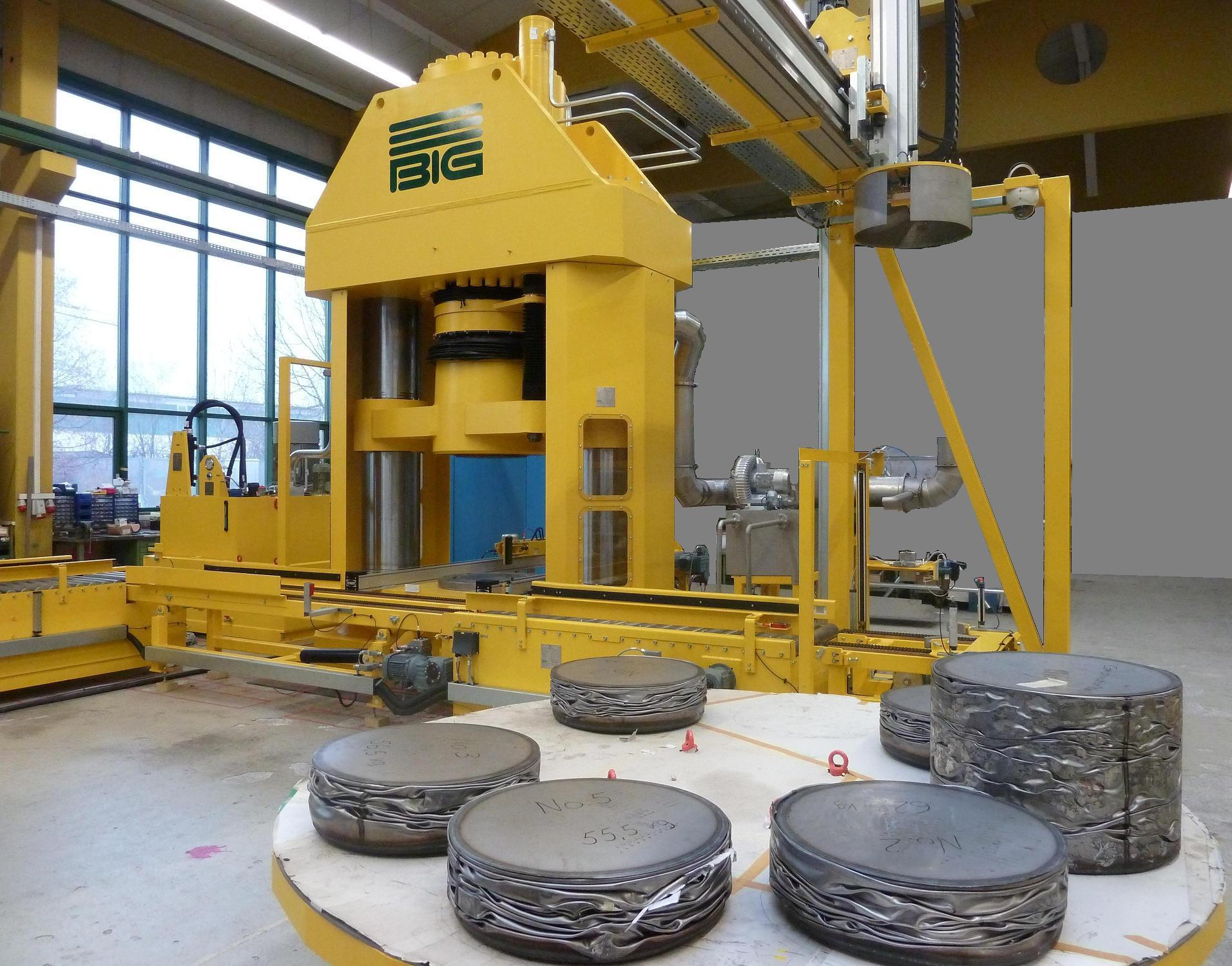 Hochdruckpresse für kontaminierte Abfälle