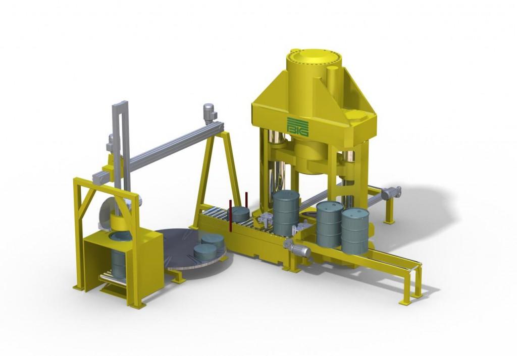 Anlage für die Verarbeitung kontaminierte Abfälle