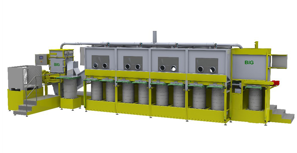 Sortierboxen für kontaminierte Abfälle